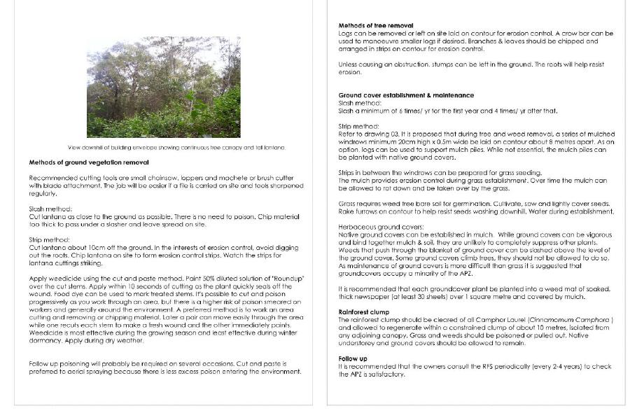 APZ example of report for erosion control cont