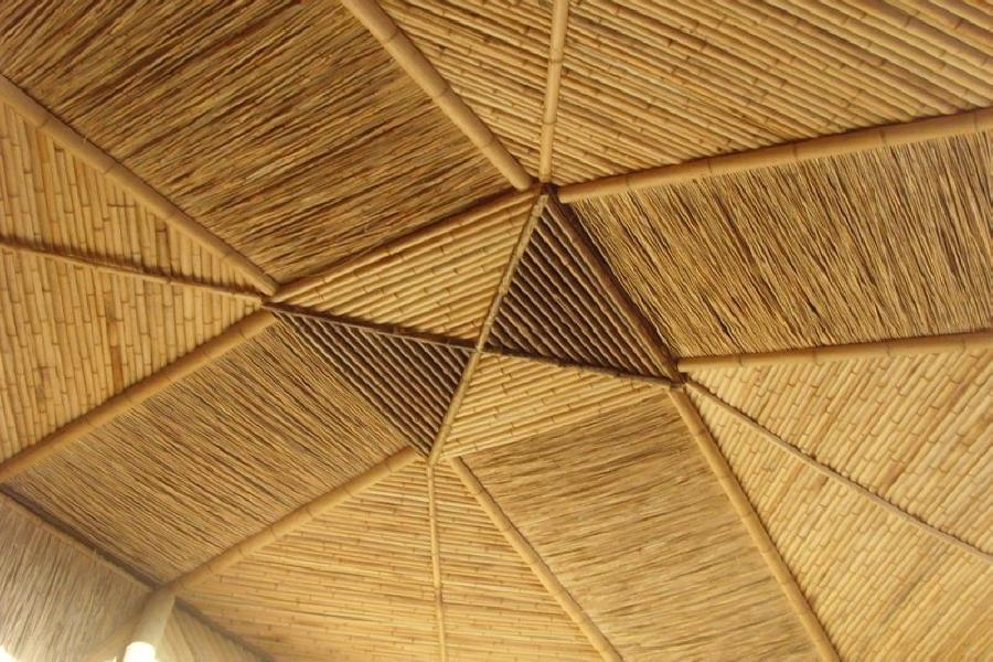 Green building materials ecoliving design for Bamboo roofing materials