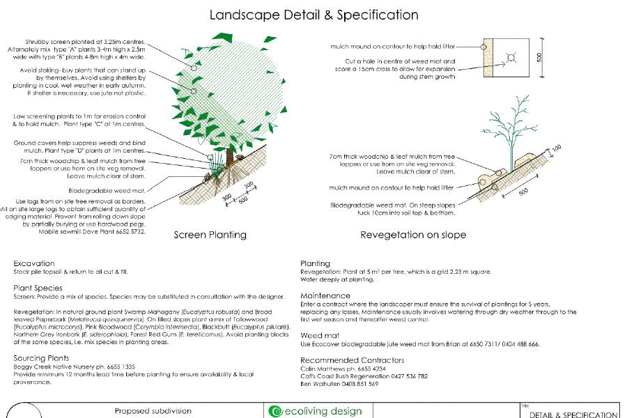 landscaping for erosion control & biodiversity