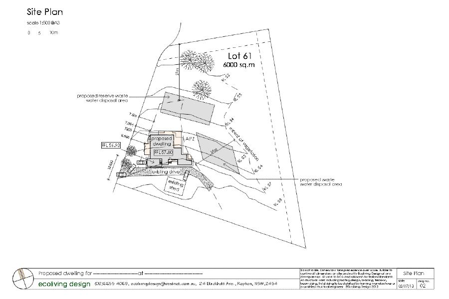 working drawings example site plan