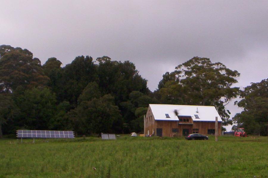 barn inspired farm house